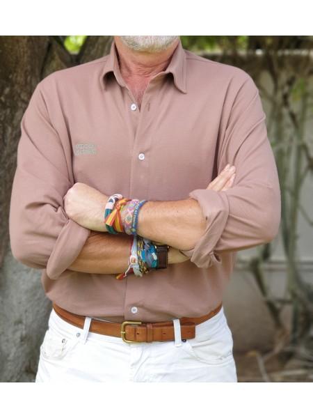 Camisa Sánchezdimisión color tabaco