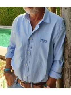 """Camisa algodón """"Gibraltar Español"""" Celeste"""